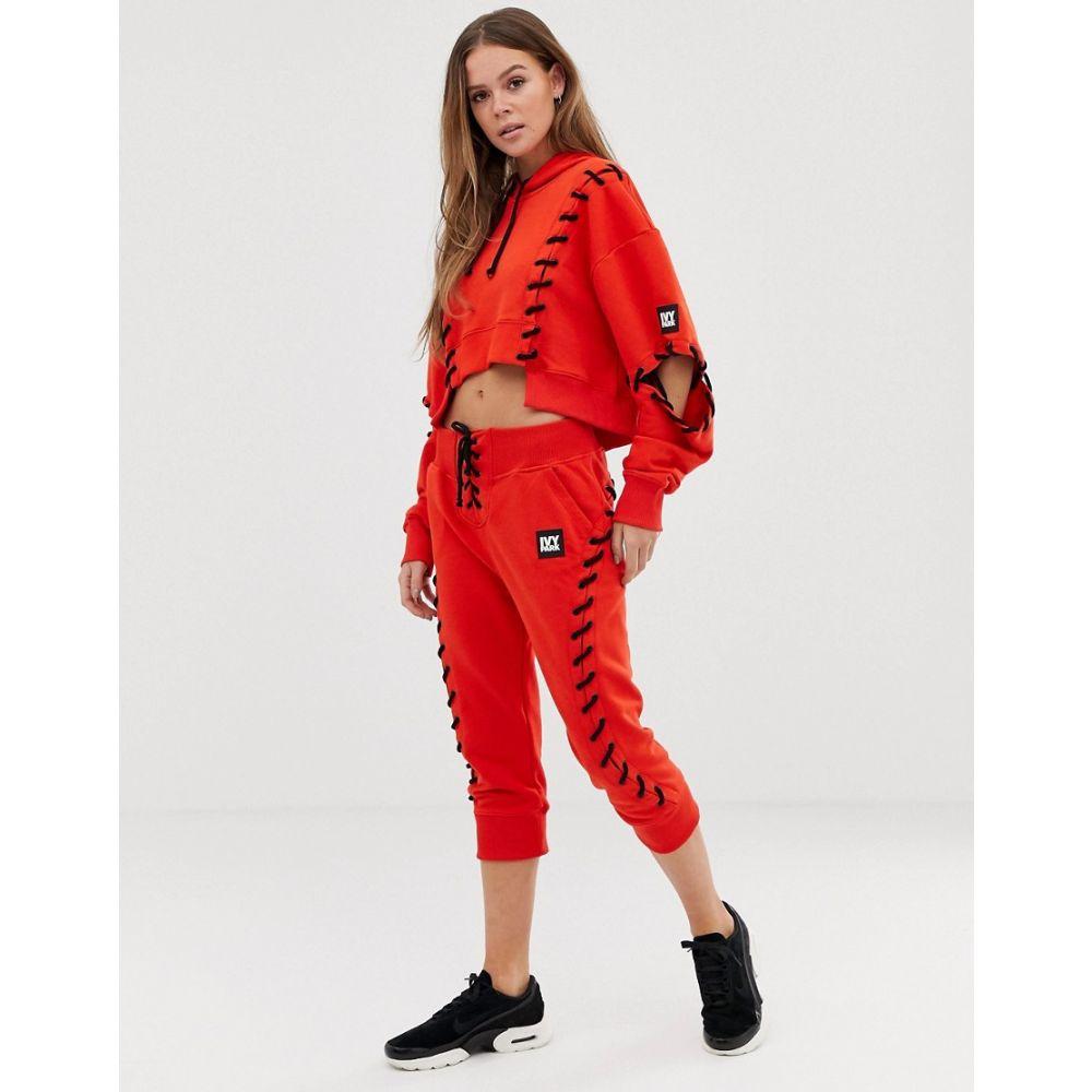 アイビーパーク Ivy Park レディース ボトムス・パンツ ジョガーパンツ【craft lace up joggers in red】Fiery red