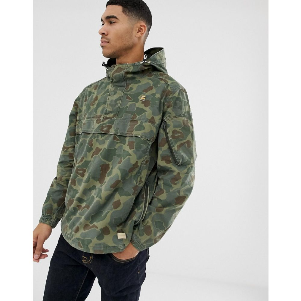 ジースター ロゥ G-Star メンズ アウター ジャケット【Xpo over head camo jacket in green】Green