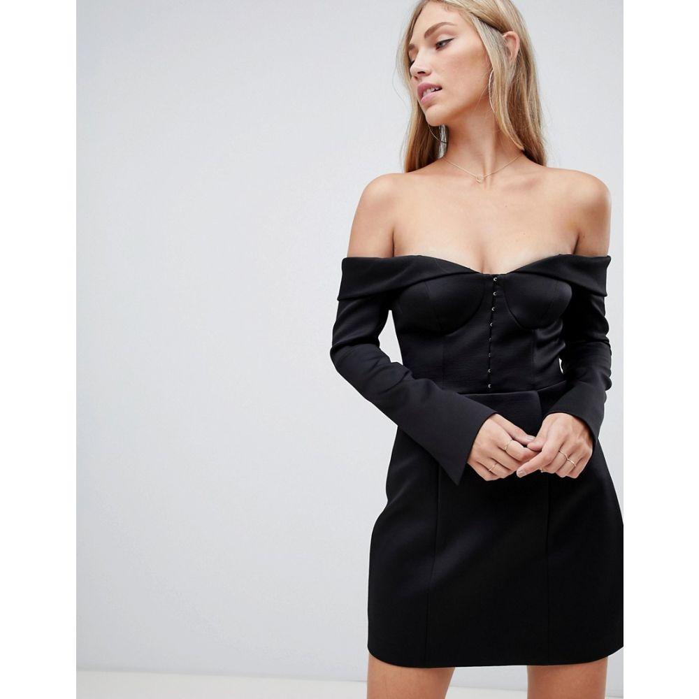 フォーエバーニュー Forever New レディース ワンピース・ドレス ボディコンドレス【structured bardot bodycon mini dress in black】Black