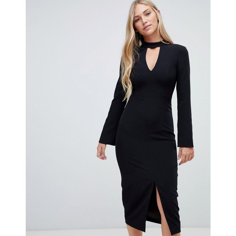 フォーエバーニュー Forever New レディース ワンピース・ドレス ワンピース【clean tailored midi dress in black】Black