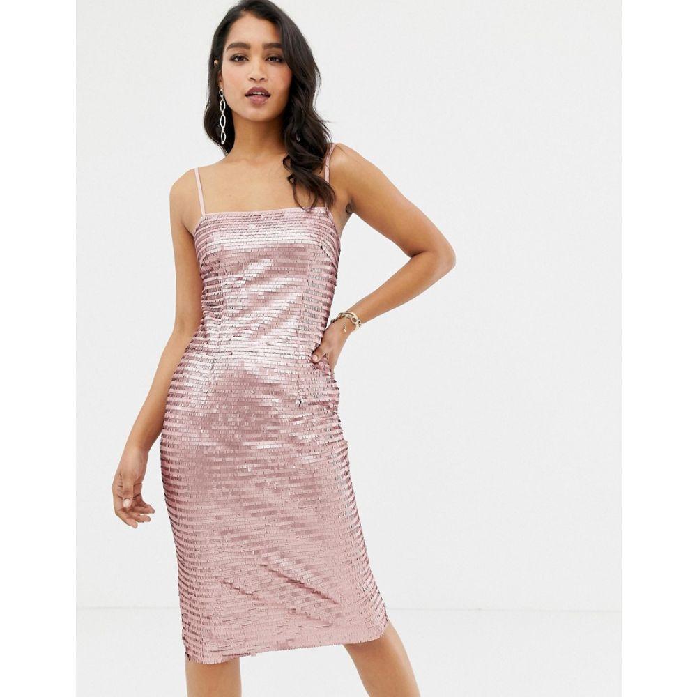 フォーエバーニュー Forever New レディース ワンピース・ドレス ワンピース【allover sequin cami midi dress in pink】Nude