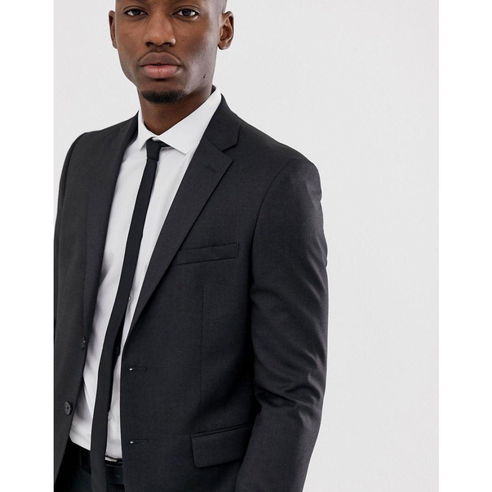モス ブラザーズ MOSS BROS メンズ アウター スーツ・ジャケット【Moss London slim stretch suit jacket in charcoal】Charcoal