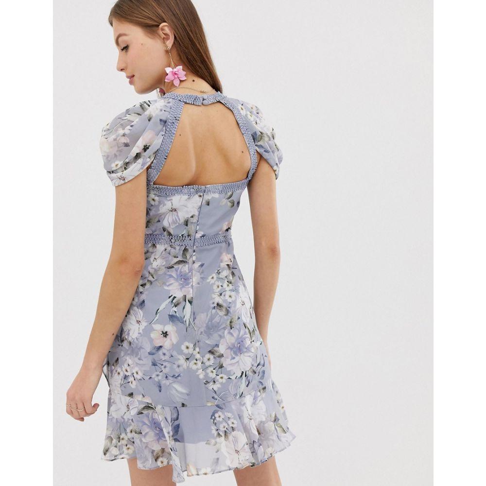 フォーエバーニュー Forever New レディース ワンピース・ドレス ワンピース【floral mini dress with laddering detail】Multi