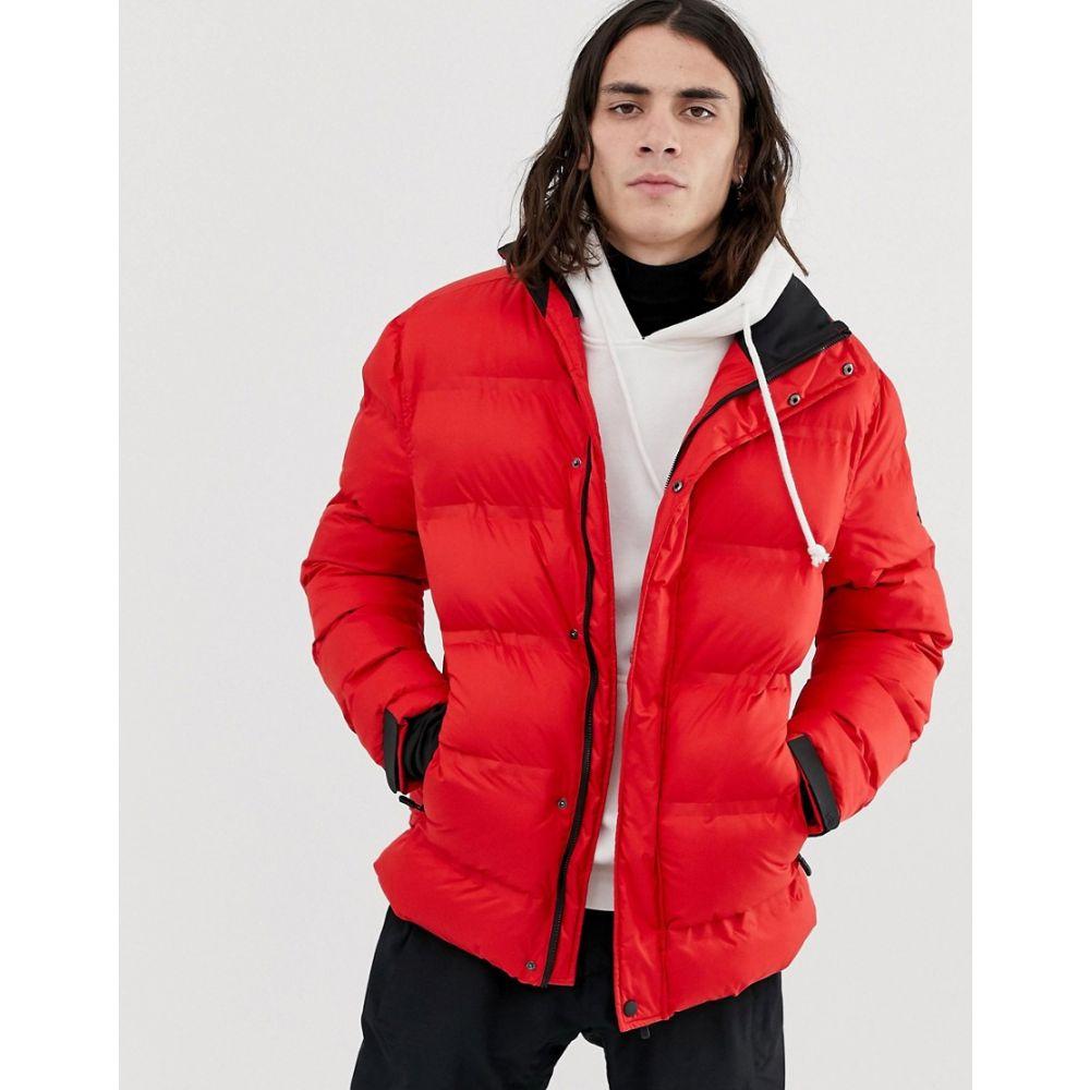 ヒート HIIT メンズ スキー・スノーボード アウター【ski puffer jacket in red】Red