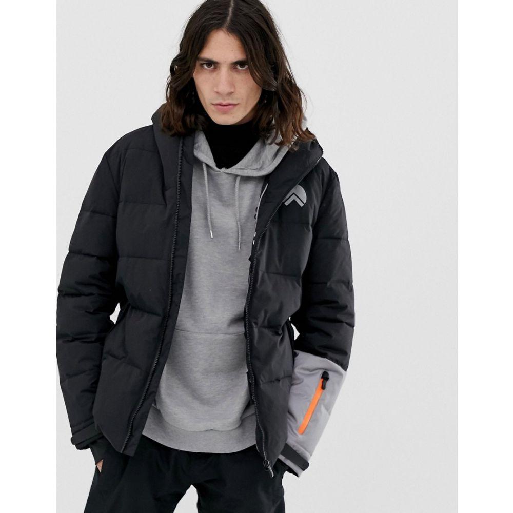 ヒート HIIT メンズ スキー・スノーボード アウター【ski puffer jackets in black】Black