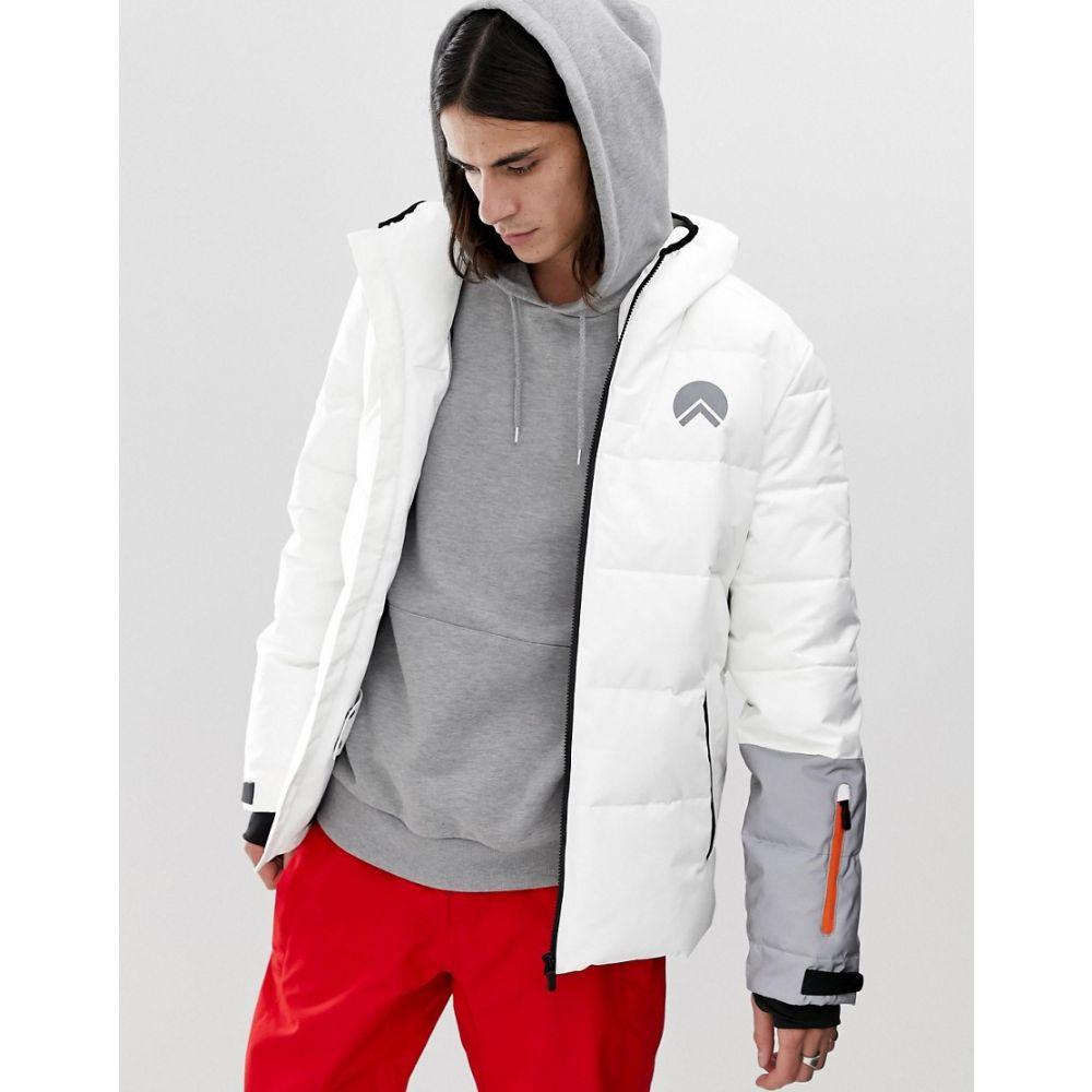 ヒート HIIT メンズ スキー・スノーボード アウター【ski puffer jackets in white】White