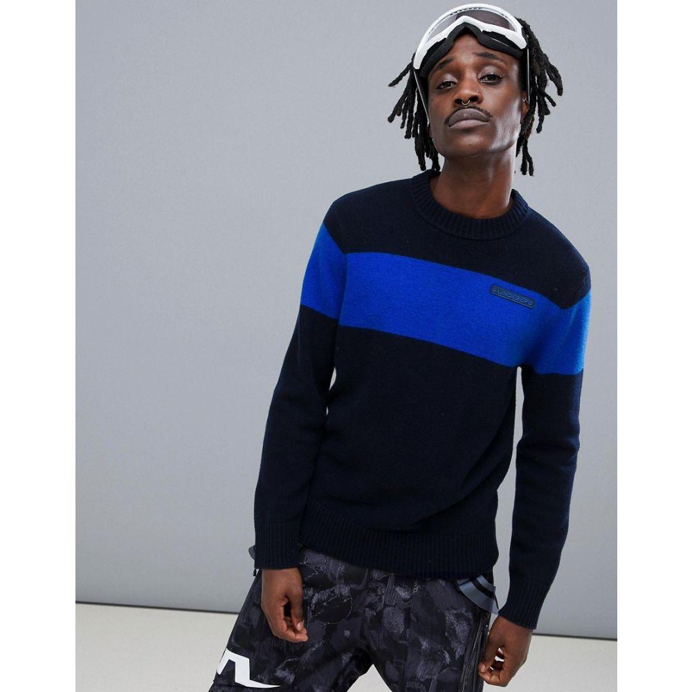 ジェイ リンドバーグ J.Lindeberg メンズ スキー・スノーボード トップス【Ski Snoop chunky wool knitted jumper in navy】Navy