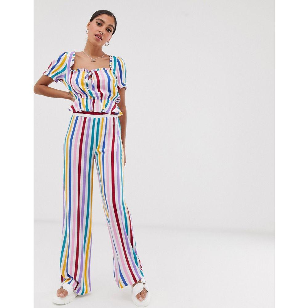 シグネチャーエイト Signature 8 レディース ボトムス・パンツ【candy stripe wide leg trousers】Multi