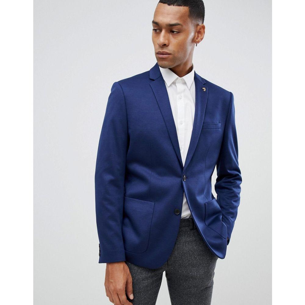 ファラー Farah Smart メンズ アウター スーツ・ジャケット【Farah slim blazer in navy premium jersey】Navy