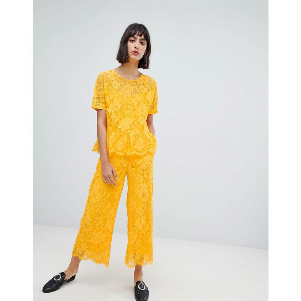 インウェア In Wear レディース ボトムス・パンツ クロップド【Sabri Lace Cropped Trousers】Solar