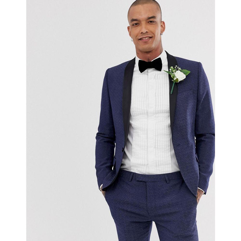 ツイステッド テイラー Twisted Tailor メンズ アウター スーツ・ジャケット【super skinny tuxedo suit jacket with blue fleck】Blue