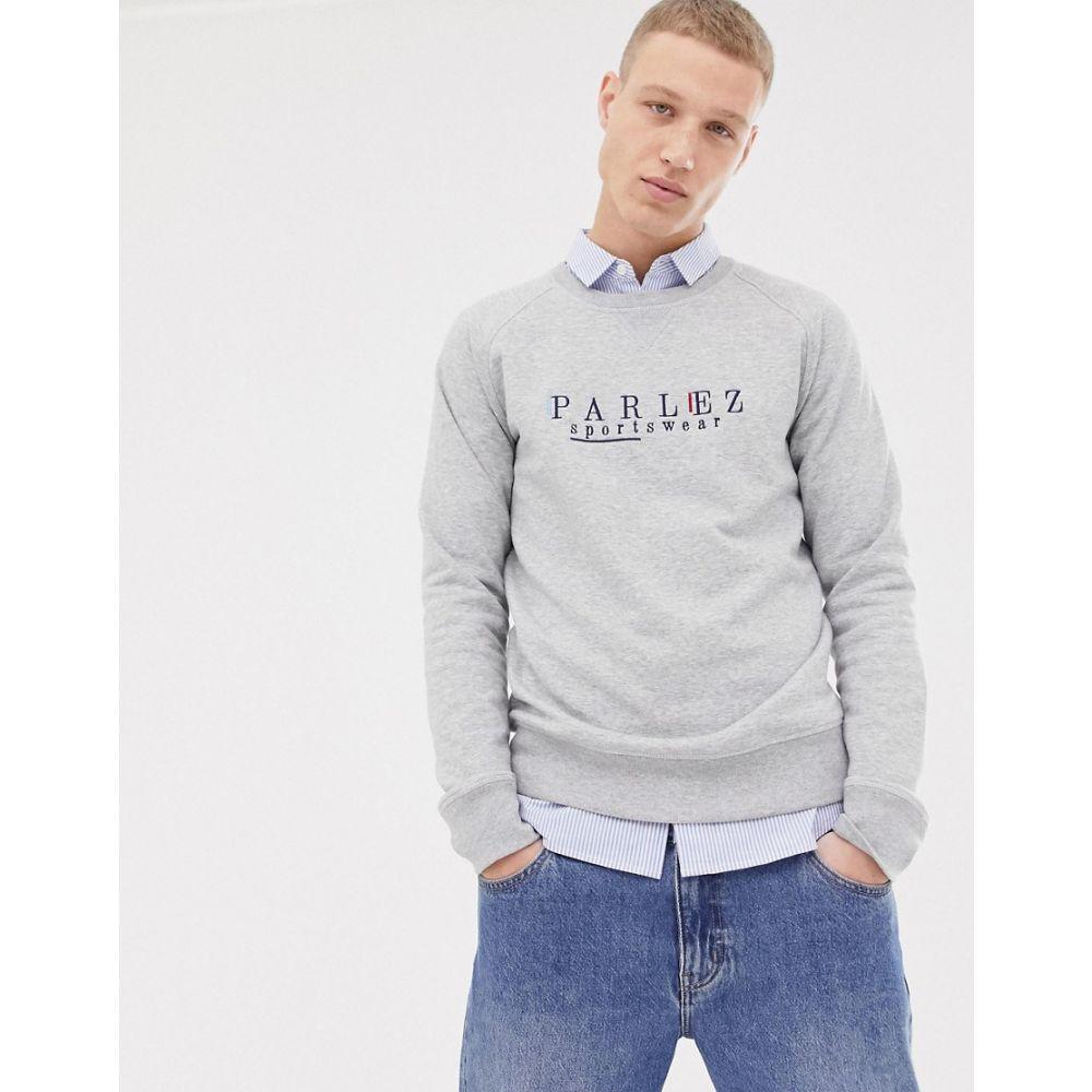 パルレ Parlez Parlez メンズ トップス スウェット・トレーナー with【sweatshirt パルレ with embroidered sportswear chest logo in grey】Grey, 大注目:690ede98 --- odigitria-palekh.ru