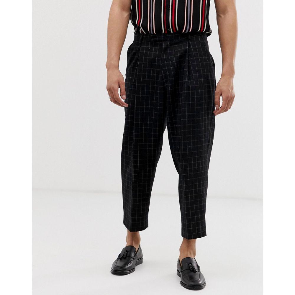 ツイステッド テイラー Twisted Tailor メンズ ボトムス・パンツ【wide leg trouser in black】Black