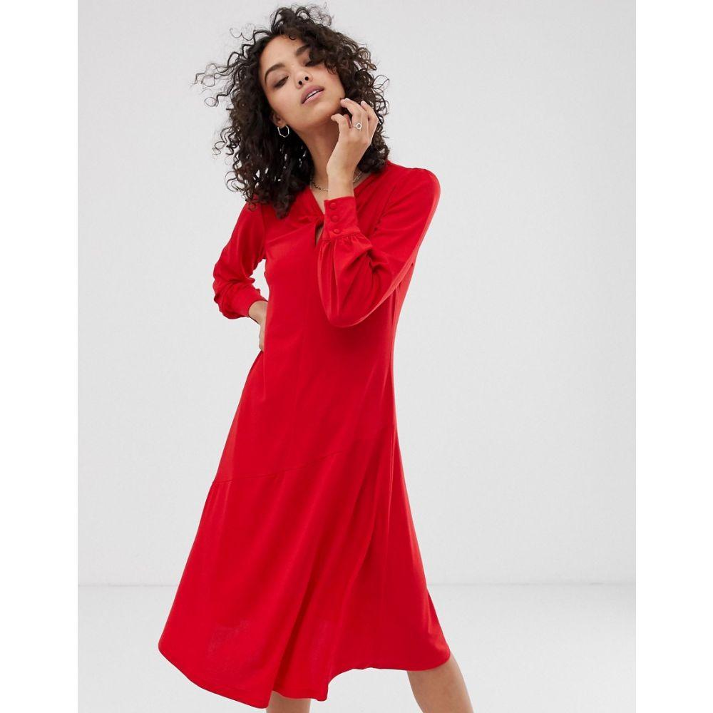ファインリー Finery レディース ワンピース・ドレス ワンピース【Aveling twist detail midi dress】Siren red