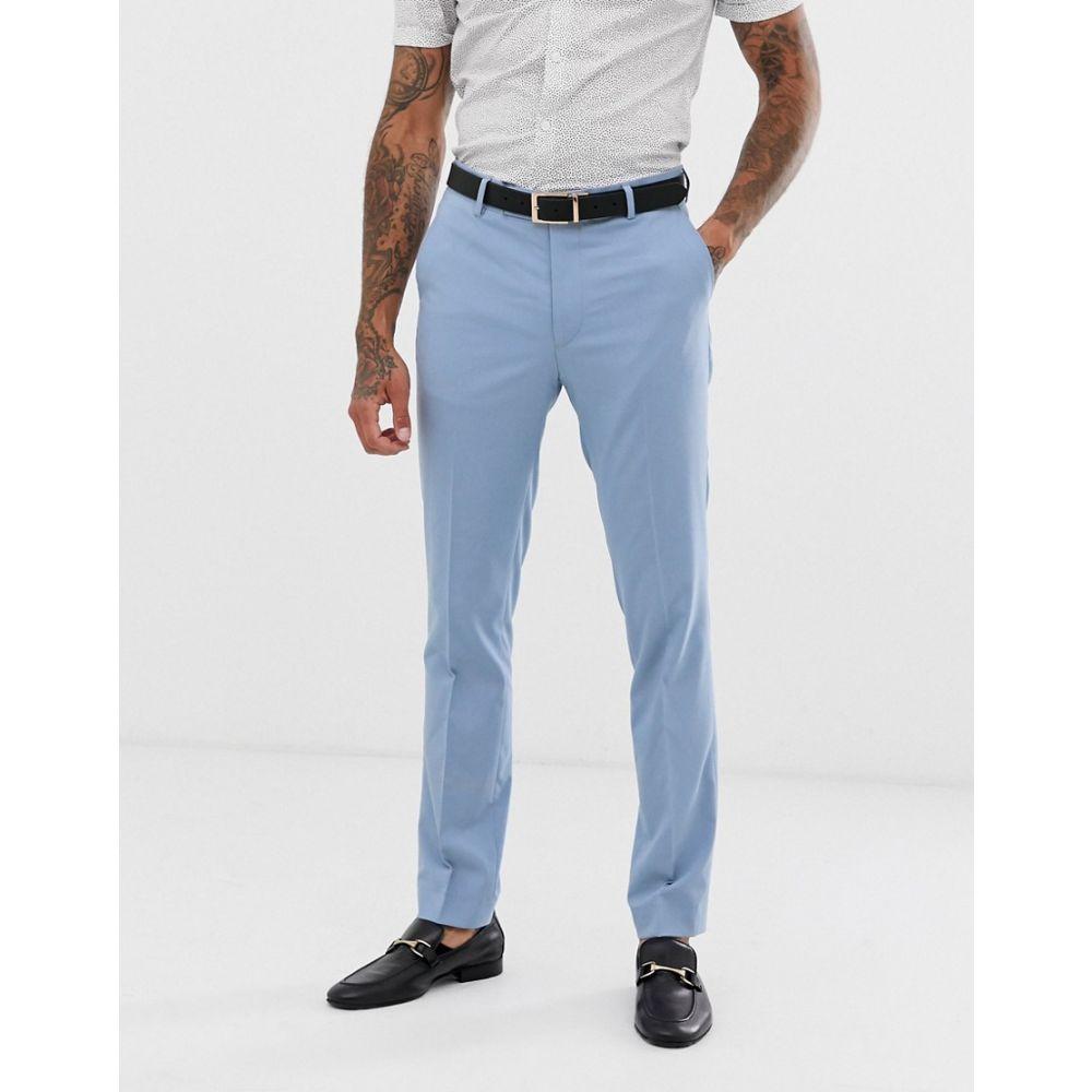 アヴェイルロンドン AVAIL London メンズ ボトムス・パンツ スラックス【Avail London skinny fit suit trousers in light blue】Blue