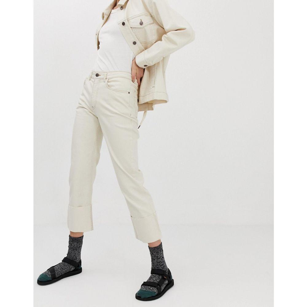 アイデンデニム Iden Denim レディース ボトムス・パンツ ジーンズ・デニム【Sylvia relaxed striaght leg jean with turn-up co-ord】Ivory white