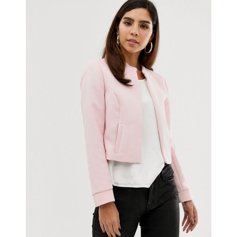 ナフナフ NAF NAF レディース アウター ダウン・中綿ジャケット【Naf Naf short padded jacket with zipper】Pink