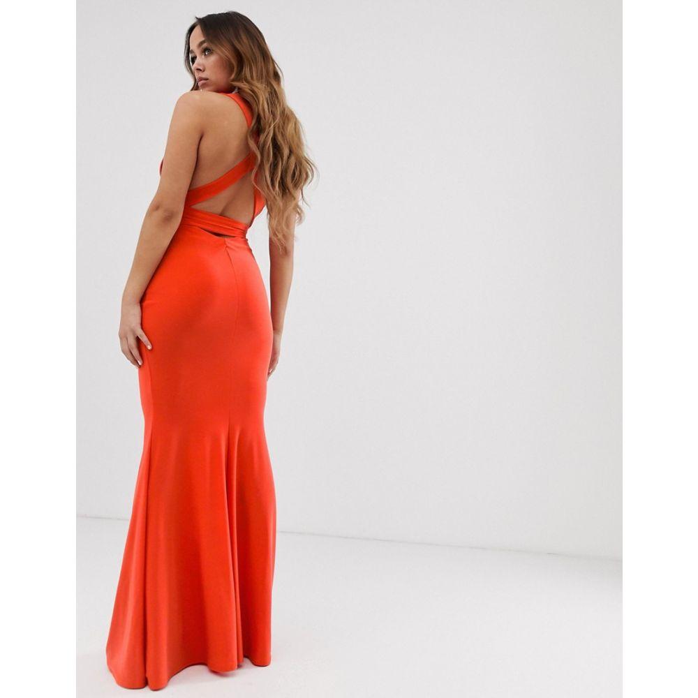 クラブエル ロンドン Club L London レディース ワンピース・ドレス ワンピース【Strappy Cross Back Maxi Dress in Orange】Orange