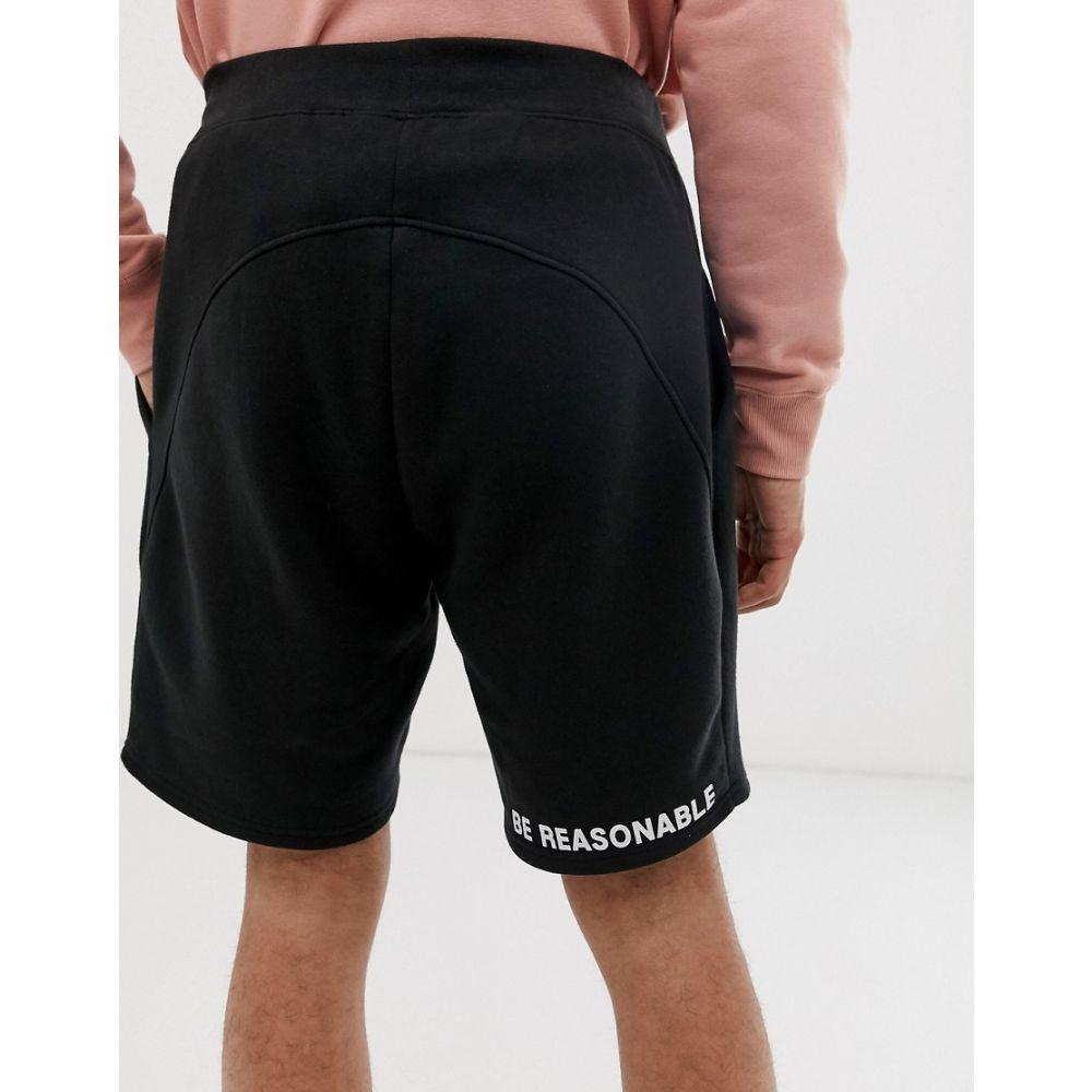 デュー デリジェンス Due Diligence メンズ ボトムス・パンツ ショートパンツ【shorts with leg logo】Black