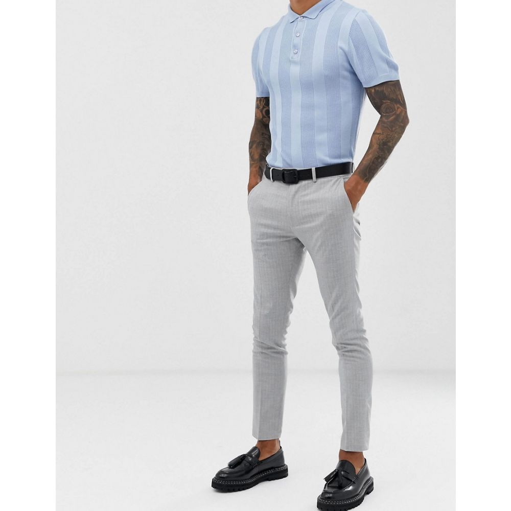 ロックストック Lockstock メンズ ボトムス・パンツ【tapered trouser in pinstripe】Grey