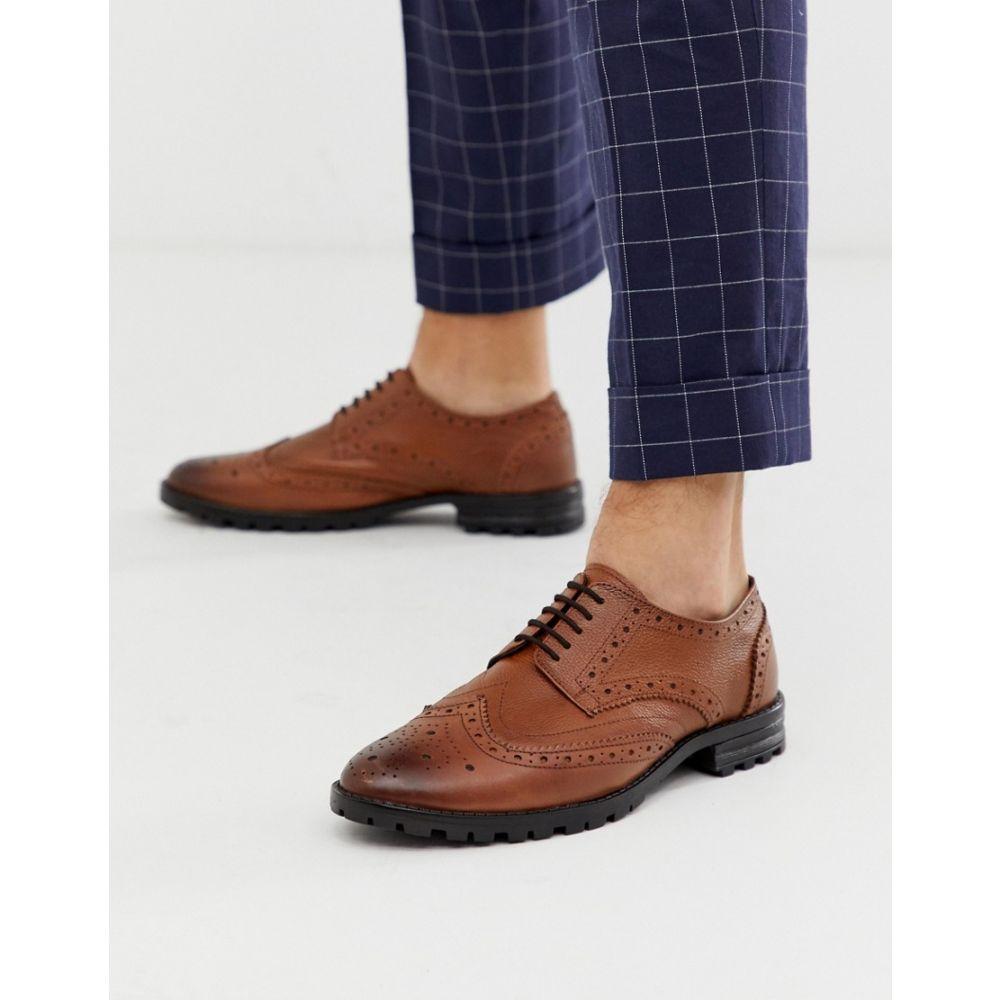レッドフット Redfoot メンズ シューズ・靴 革靴・ビジネスシューズ【leather brogue chunky sole shoe in tan】Tan