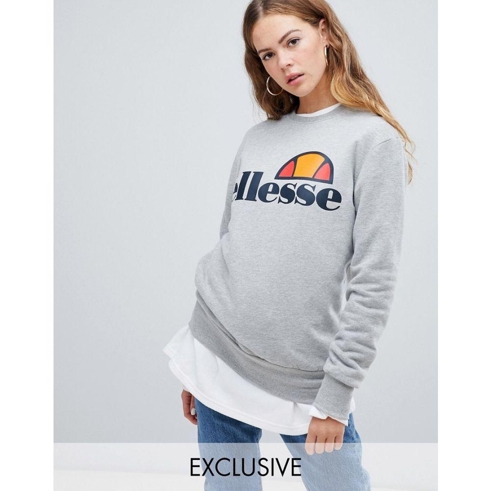 エレッセ ellesse レディース トップス スウェット・トレーナー【Ellesse boyfriend sweatshirt with chest logo】Grey