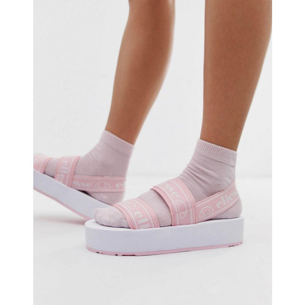 エレッセ ellesse レディース シューズ・靴 サンダル・ミュール【Ellesse Giglio logo strappy chunky flatform sandals in pink】Baby pink