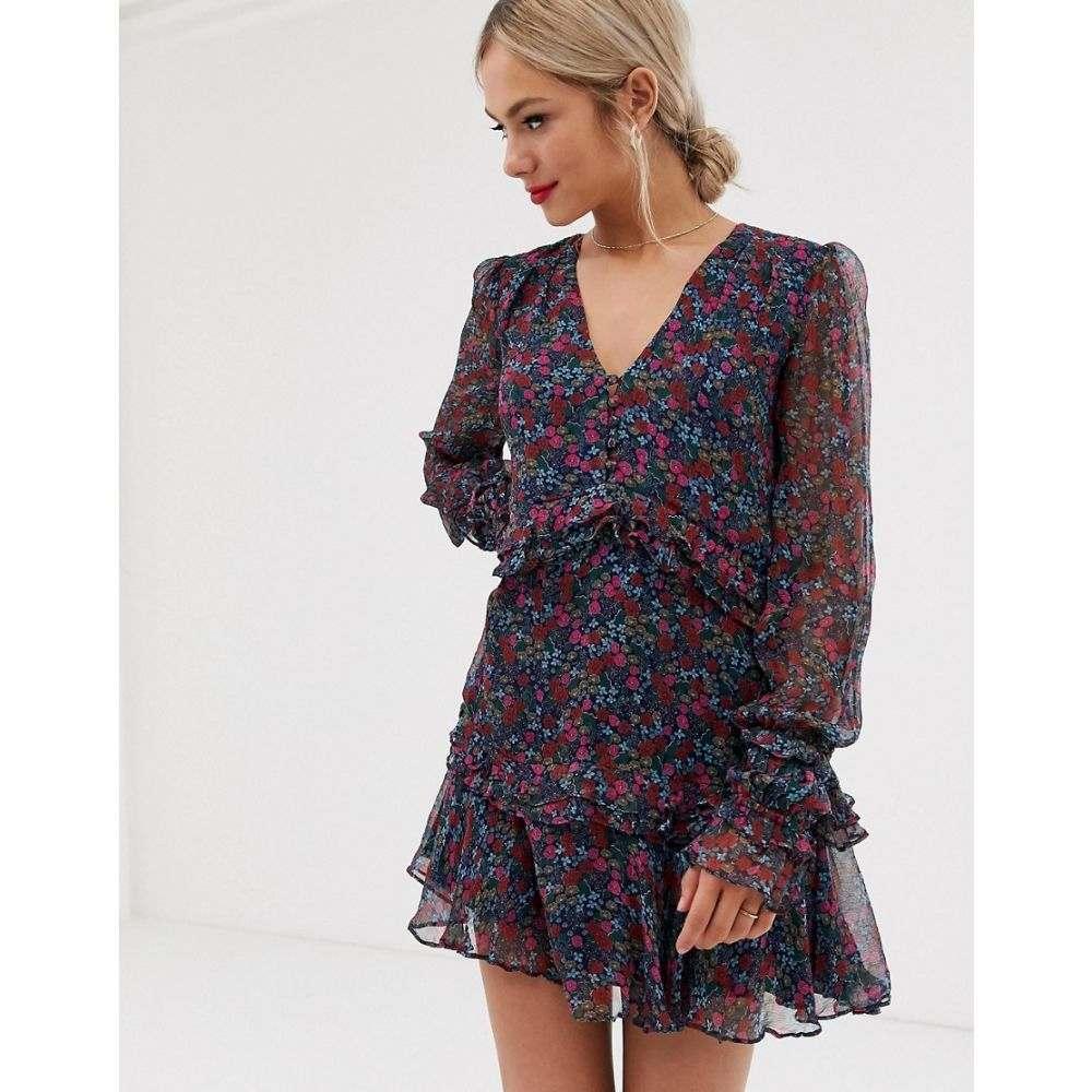 スティーヴィーメイ Stevie May レディース ワンピース・ドレス ワンピース【mercy long sleeve floral mini dress】Wildflower