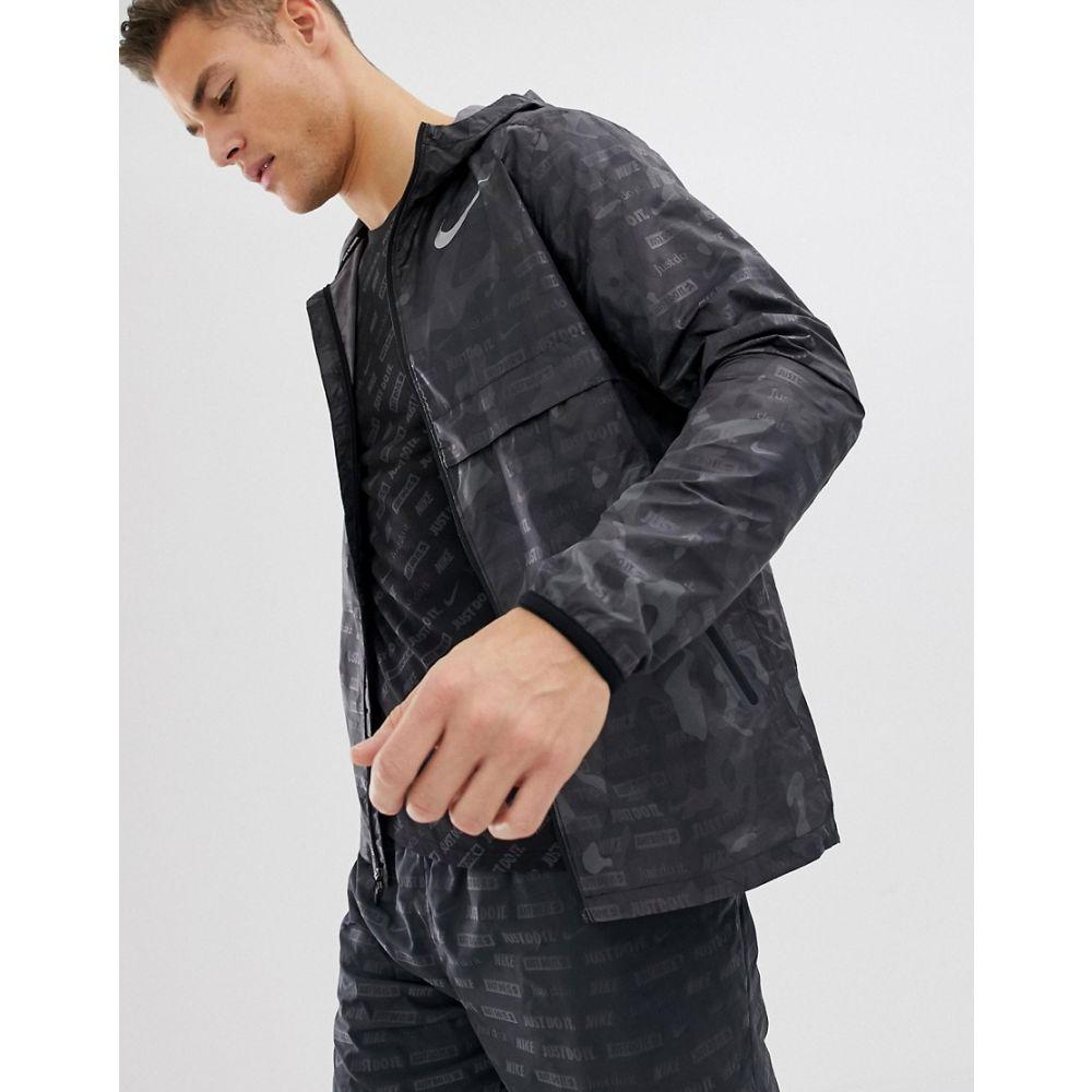 ナイキ Nike Running メンズ アウター ジャケット【Just Do It reflective jacket in black camo AH5987-010】Black