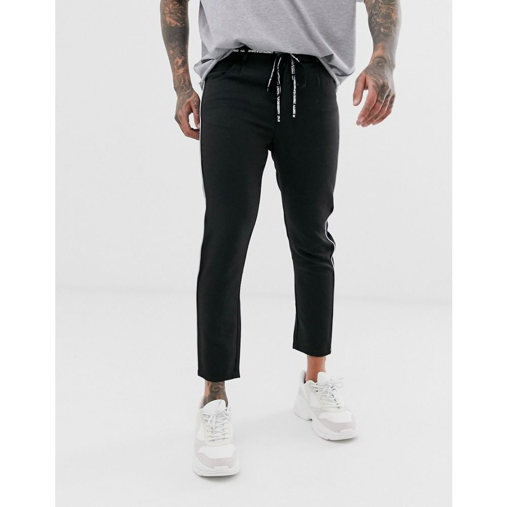 ザ クチュール クラブ The Couture Club メンズ ボトムス・パンツ【smart trousers with taping in black】Black