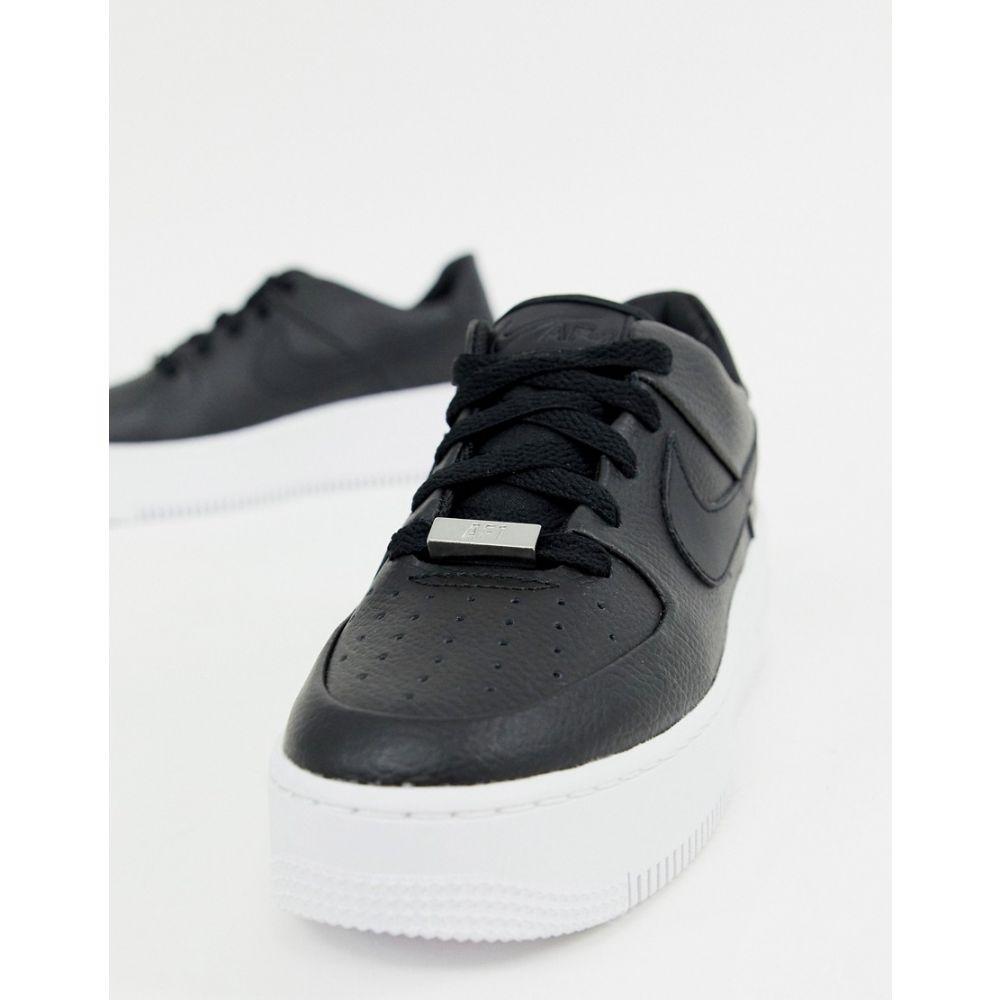ナイキ Nike レディース シューズ・靴 スニーカー【Black Air Force 1 Sage Trainers】Black