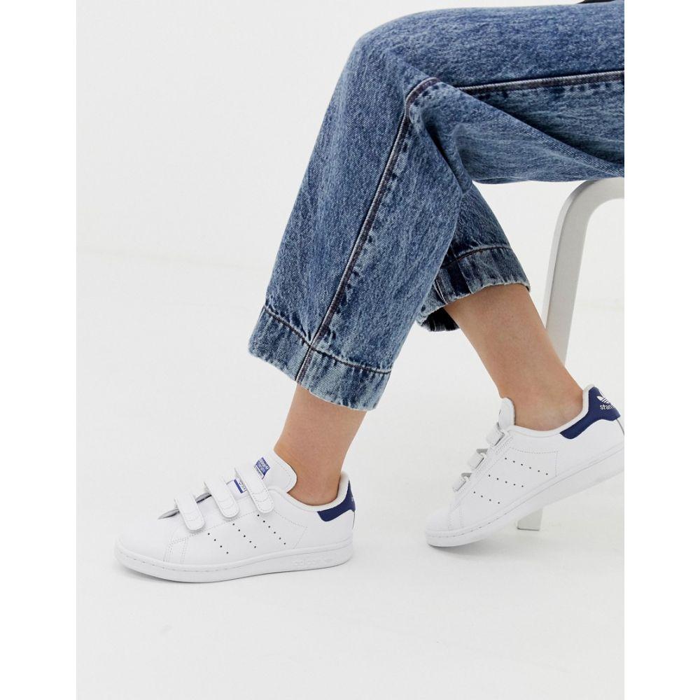 アディダス adidas Originals レディース シューズ・靴 スニーカー【white and navy Stan Smith CF trainers】White