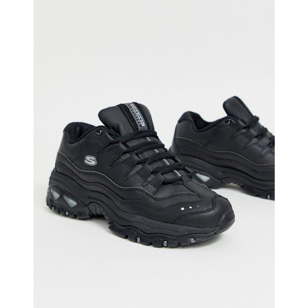 スケッチャーズ Skechers レディース シューズ・靴 スニーカー【Energy trainers in black】Bbk - black smooth l