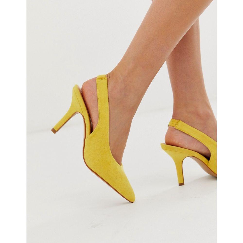 グラマラス Glamorous レディース シューズ・靴 ヒール【Exclusive yellow sling back heeled shoes】Yellow