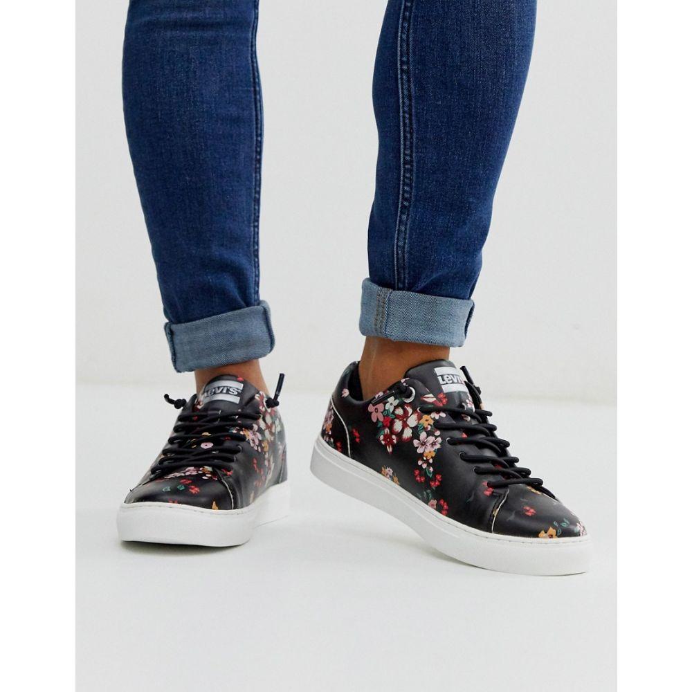 リーバイス Levi's レディース シューズ・靴 スニーカー【lace up trainer in ditsy floral print】Regular black