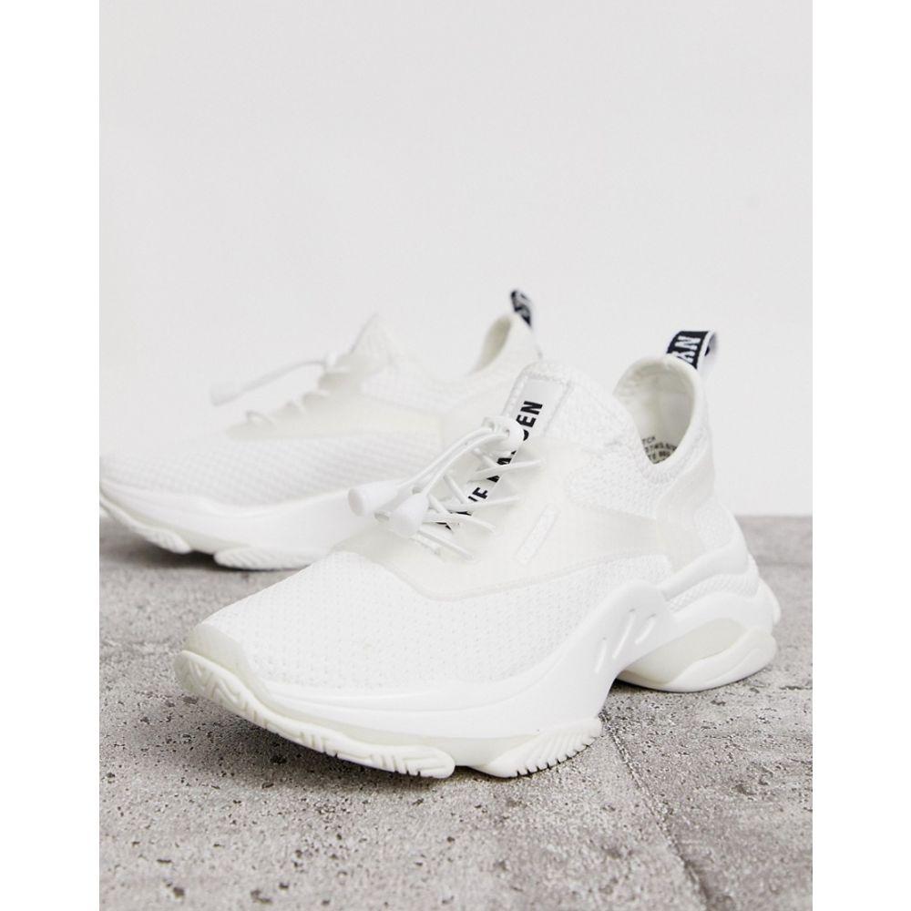 スティーブ マデン Steve Madden レディース シューズ・靴 スニーカー【Match white chunky trainers】White