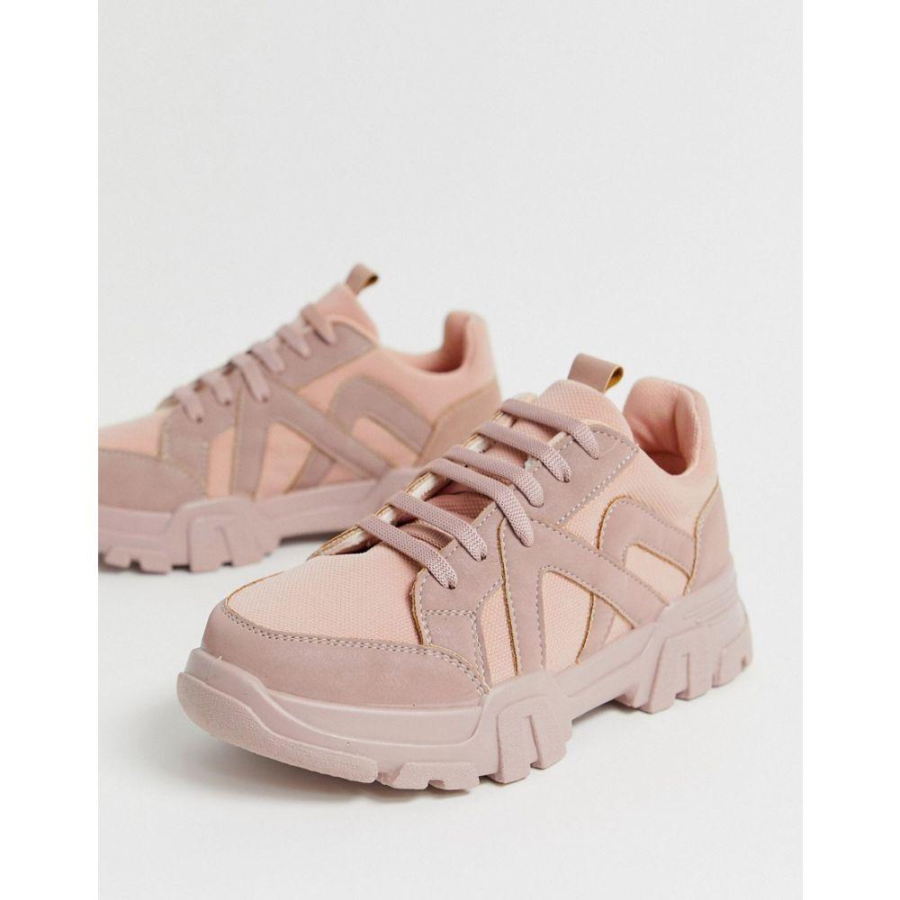 エイソス ASOS DESIGN レディース シューズ・靴 スニーカー【Drone chunky trainers in pink】Pink