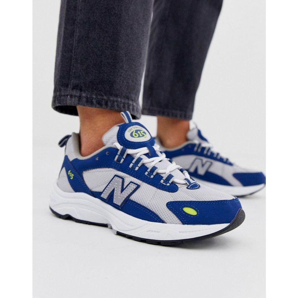 ニューバランス New Balance レディース シューズ・靴 スニーカー【615 trainers in silver & blue】Silver & blue