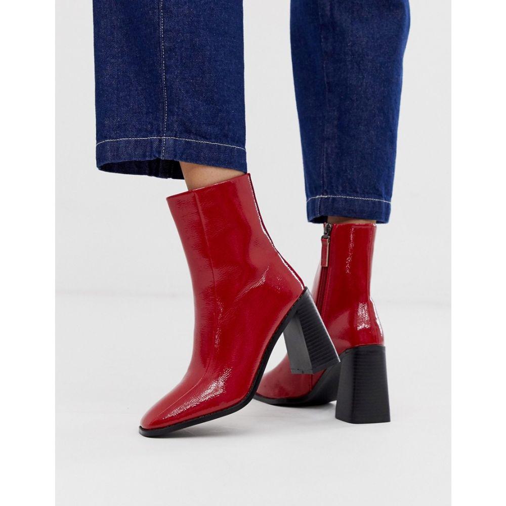 レイド Raid レディース シューズ・靴 ブーツ【RAID Kiaya red patent square toe boots】Re1 - red 1