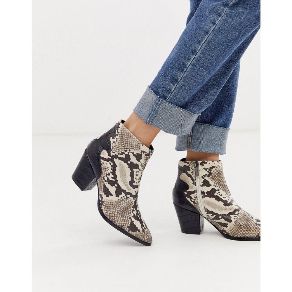 ロストインク Lost Ink レディース シューズ・靴 ブーツ【mid heel western ankle boot in snake】Snake
