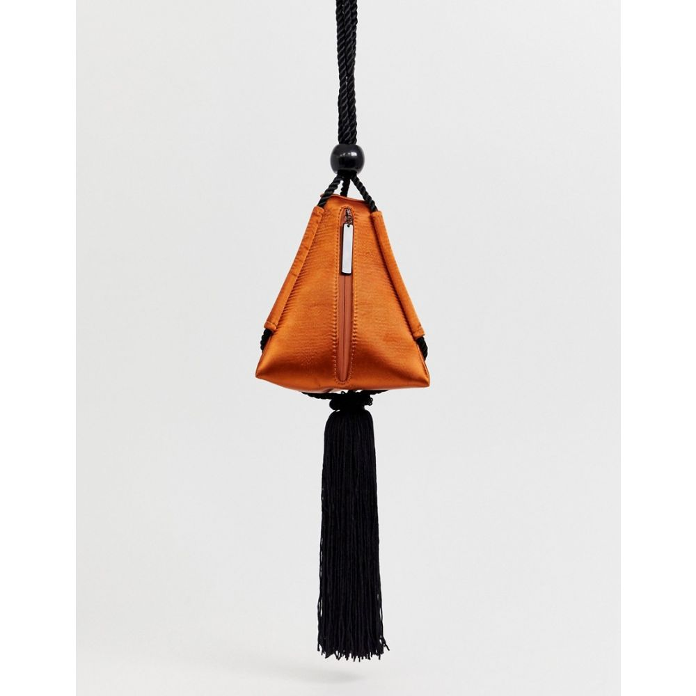 エイソス ASOS EDITION レディース バッグ【satin triangle bag with tassel】Rust