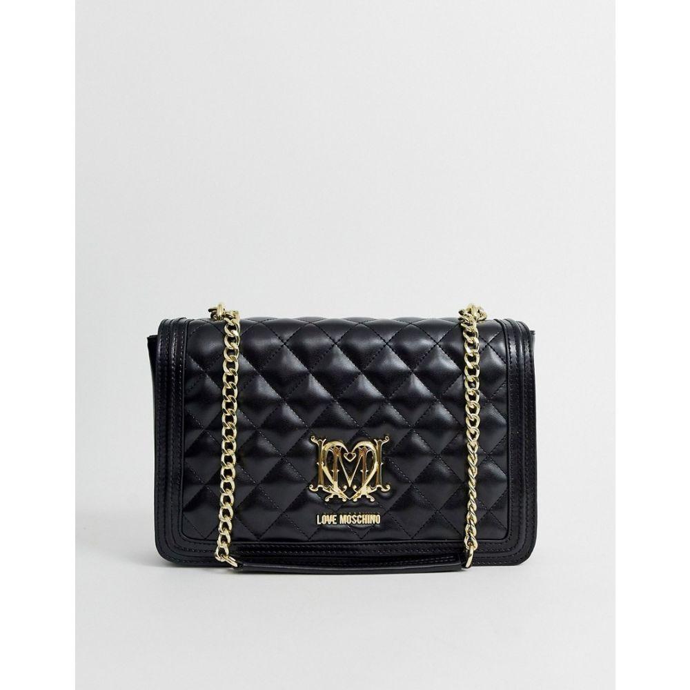 モスキーノ Love Moschino レディース バッグ ショルダーバッグ【quilted shoulder bag with chain in black】Black
