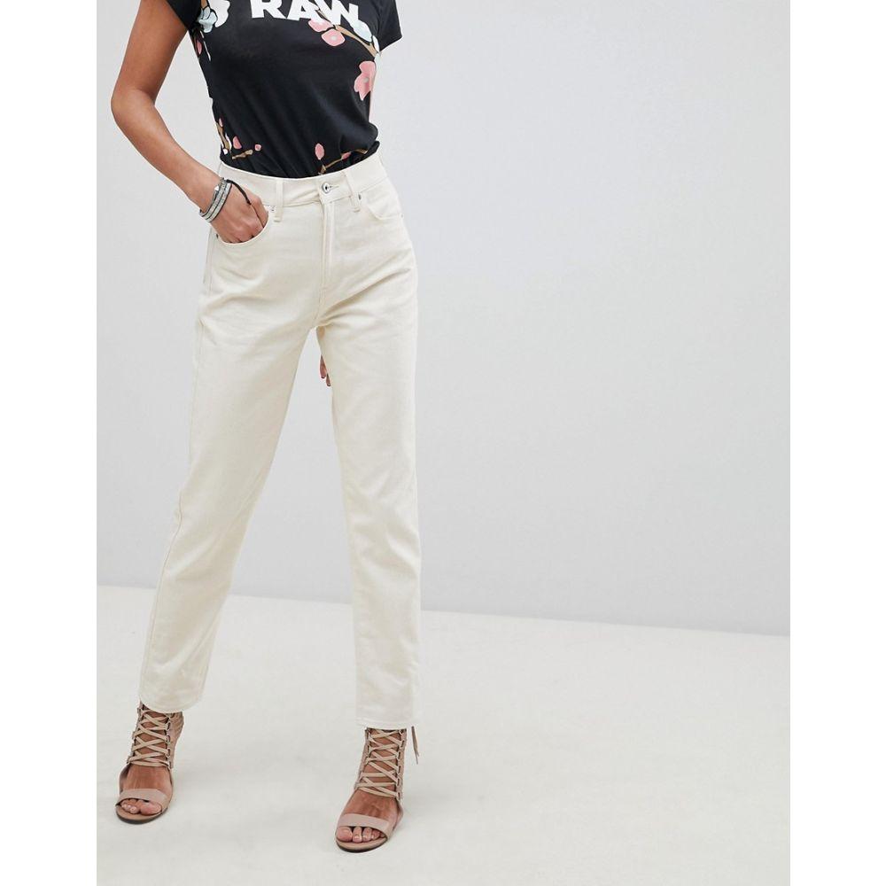 ジースター ロゥ G-Star レディース ボトムス・パンツ ジーンズ・デニム【3301 Ultra High Waist Straight Ankle Jean】Ivory