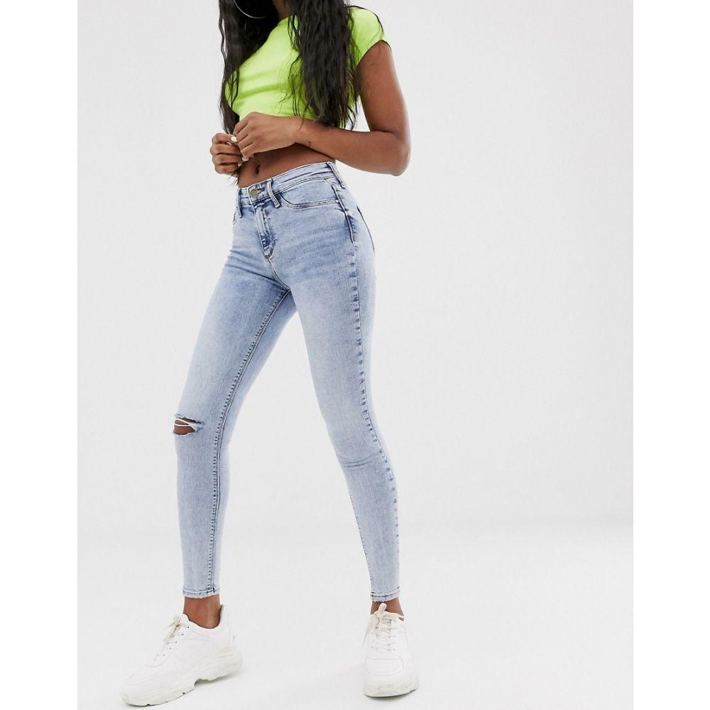 リバーアイランド River Island レディース ボトムス・パンツ ジーンズ・デニム【Molly skinny jeans with ripped knee with light wash】Light auth