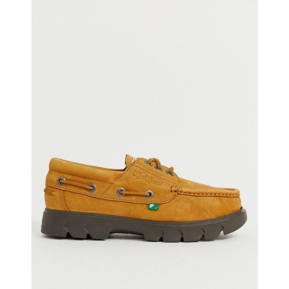 キッカーズ Kickers メンズ シューズ・靴 デッキシューズ【lennon boat shoes in tan suede】Beige