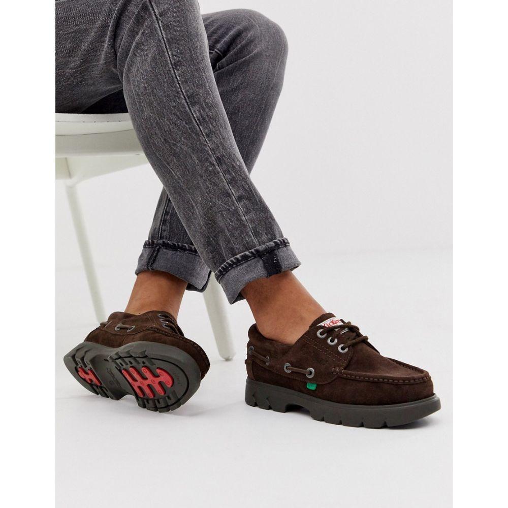 キッカーズ Kickers メンズ シューズ・靴 デッキシューズ【lennon boat shoes in brown suede】Brown