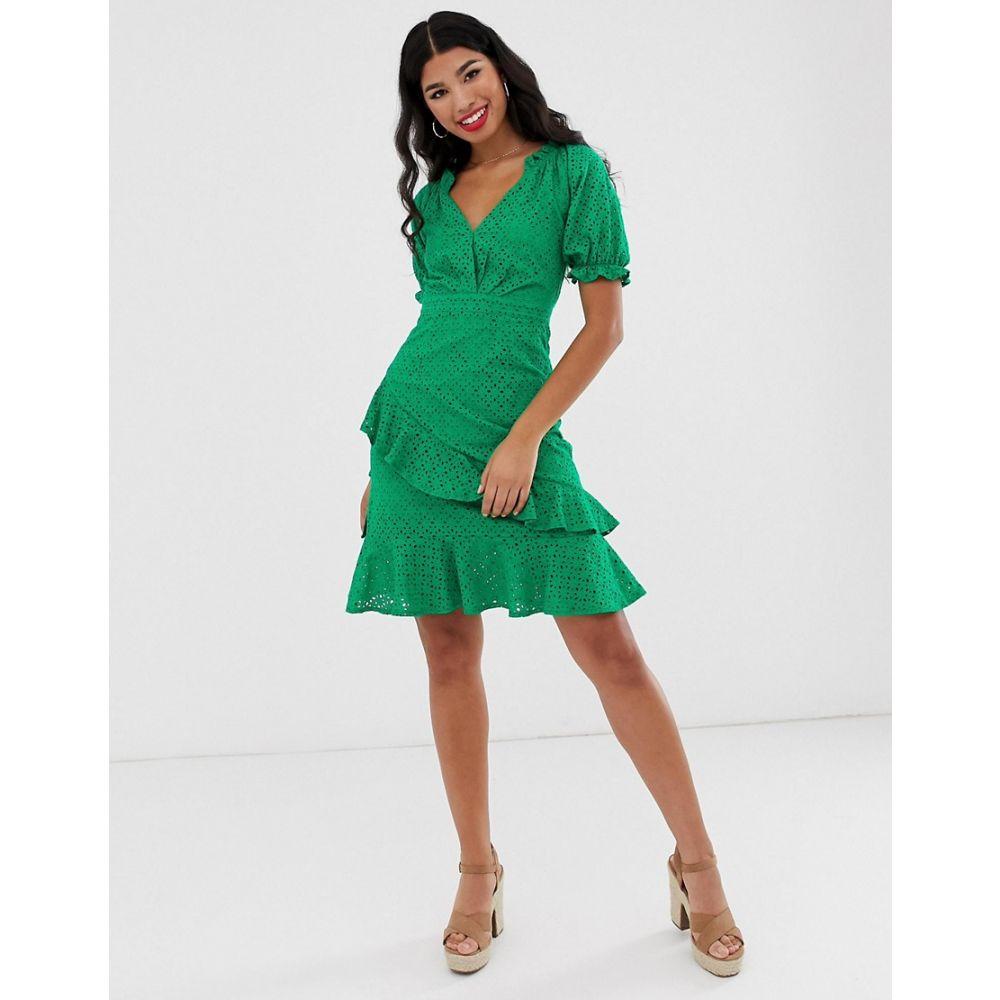 ダークピンク Dark Pink レディース ワンピース・ドレス ワンピース【milkmaid anglaise mini dress in green】Green