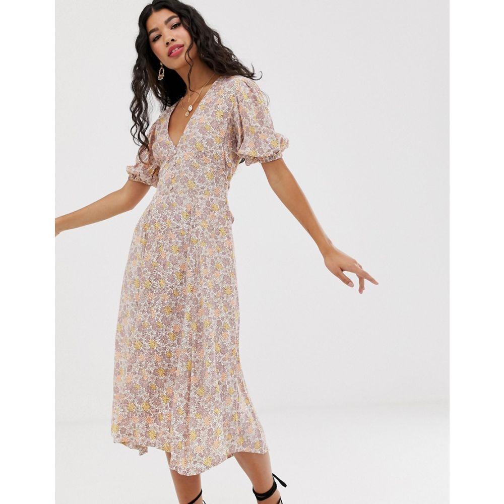 フェイスフルザブランド Faithfull the Brand レディース ワンピース・ドレス ワンピース【Faithfull delia floral midi dress】Floral print
