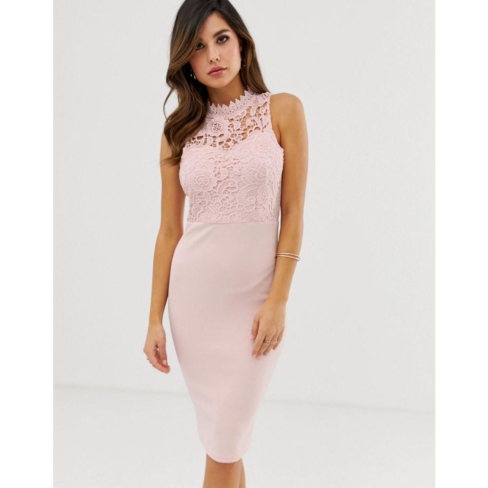 アックスパリス AX Paris レディース ワンピース・ドレス ワンピース【high neck midi dress】Pink