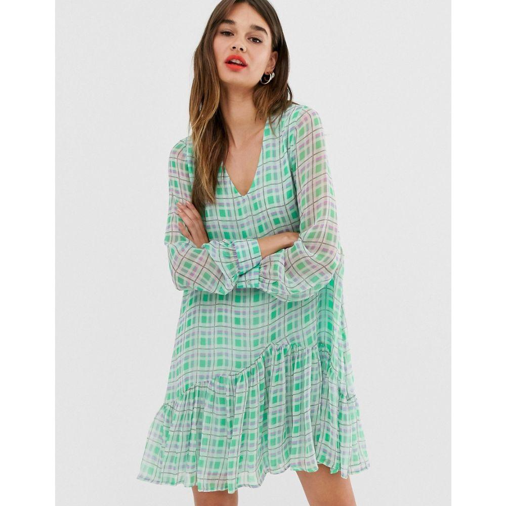 エッセンシャル Essentiel Antwerp レディース ワンピース・ドレス ワンピース【check mini dress】Combo2 alhambra